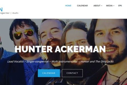 The Brothers Of Invention are proud to announce the re-design of http://HunterAckerman.com – a multi-instrumental musician and actor in Los Angeles, CA.