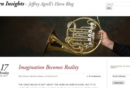 The Brothers Of Invention are proud to announce the re-launch of ImprovInsights.com and HornInsights.com. Jeffrey Agrell is a teacher, performer (horn), writer, composer, and improviser of contemporary classical music. His day job for the past decade has been teaching horn at the University of Iowa.