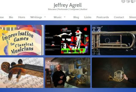 The Brothers of Invention are proud to announce the launch of Jeffrey Agrell.com. Jeff is Associate Professor of Horn at the University of Iowa, as well as a noted composer, author and performer.