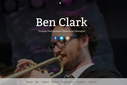 The Brothers of Invention are proud to announce the re-launch of http://benclarktrumpet.com/. Ben Clark is an accomplished and versatile trumpet player, studio musician, and educator working out of Nashville, Tennessee.